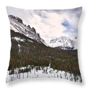 Never Summer Wilderness Area Panorama Throw Pillow