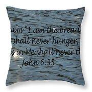 Never Thirst   John 6 35 Throw Pillow