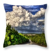 Atlanta And The Southside Neverland Throw Pillow