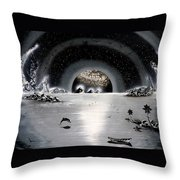 New Age Moonset Throw Pillow