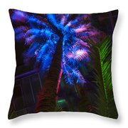 New Age Tropical Palm Throw Pillow