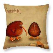 New Arrival. Kiwi Bird - Sweet As - Boy Throw Pillow