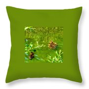 New Baby Ducklings Throw Pillow