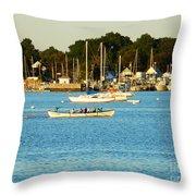 New Bedford Pier Throw Pillow