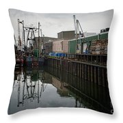 New Bedford Waterfront No. 4 Throw Pillow by David Gordon