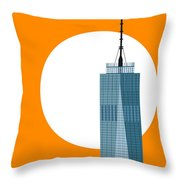 New Beginnings Freedom Tower Throw Pillow