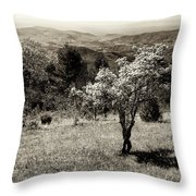 New Blooms In North Carolina Throw Pillow