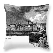 New Brunswick, 1876 Throw Pillow