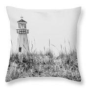 New Buffalo Lighthouse In Southwestern Michigan Throw Pillow
