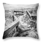 New Buffalo Michigan Boardwalk And Beach Throw Pillow by Paul Velgos