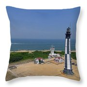 New Cape Henry Lighthouse Throw Pillow
