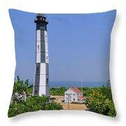 New Cape Henry Lighthouse Vertical Throw Pillow
