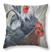 New Chick In Town Throw Pillow