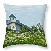 New Church In Ninilchik-ak  Throw Pillow