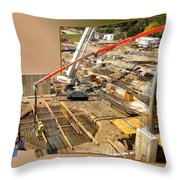 New Commercial Construction Site 02 Throw Pillow