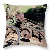 New Crop Antiquated Plow Throw Pillow