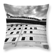 New Cruise New Crowds New Clouds Throw Pillow