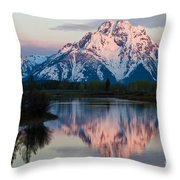 New Day Of Peace In Teton National Park Throw Pillow