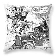 New Deal: Cartoon, 1943 Throw Pillow