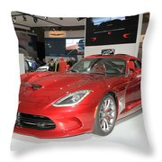 New Dodge Viper Throw Pillow