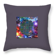 New Earth Rising Throw Pillow