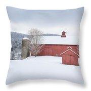 New England Barns Throw Pillow