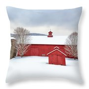 New England Barns Square Throw Pillow
