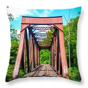 New England Bridge Throw Pillow