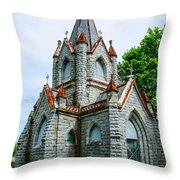 New England Cemetery Mausoleum Throw Pillow