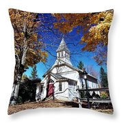 New England In New Jersey Throw Pillow