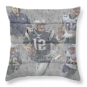 New England Patriots Team Throw Pillow