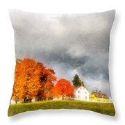 New England Village Throw Pillow