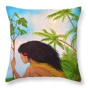 New Garden Throw Pillow