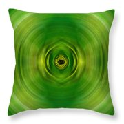 New Growth - Green Art By Sharon Cummings Throw Pillow