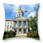New Hampshire State Capitol Throw Pillow