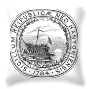 New Hampshire State Seal Throw Pillow
