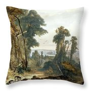 New Harmony On The Wabash, Plate 2 Throw Pillow