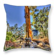New Home Site Throw Pillow