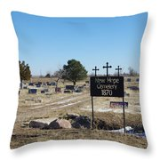 New Hope Cemetery Throw Pillow