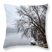 New Hope Ferry Throw Pillow