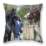 New Horse In The Herd Throw Pillow