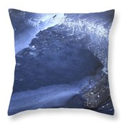 New Ice Blue Throw Pillow