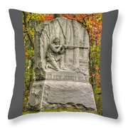New Jersey At Gettysburg - 13th Nj Volunteer Infantry Near Culps Hill Autumn Throw Pillow