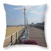 New Jersey Boardwalk Throw Pillow