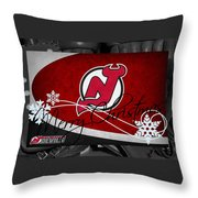 New Jersey Devils Christmas Throw Pillow