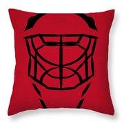 New Jersey Devils Goalie Mask Throw Pillow