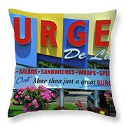 New Jersey Diner Throw Pillow