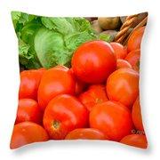 New Jersey Farm Market Goodness Throw Pillow