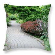 Frelinghuysen Arboretum Path Throw Pillow
