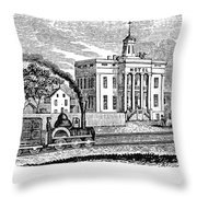 New Jersey Rahway, 1844 Throw Pillow